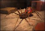 Steam powered mechanical spider