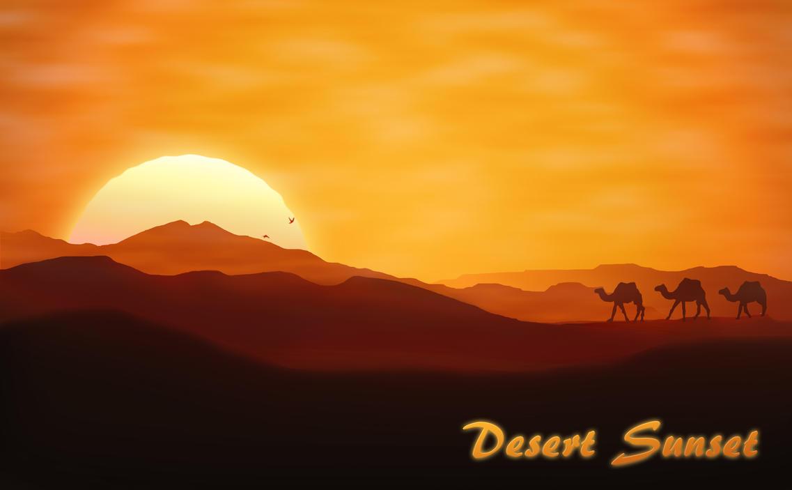 Desert Sunset by FavsCo on DeviantArt