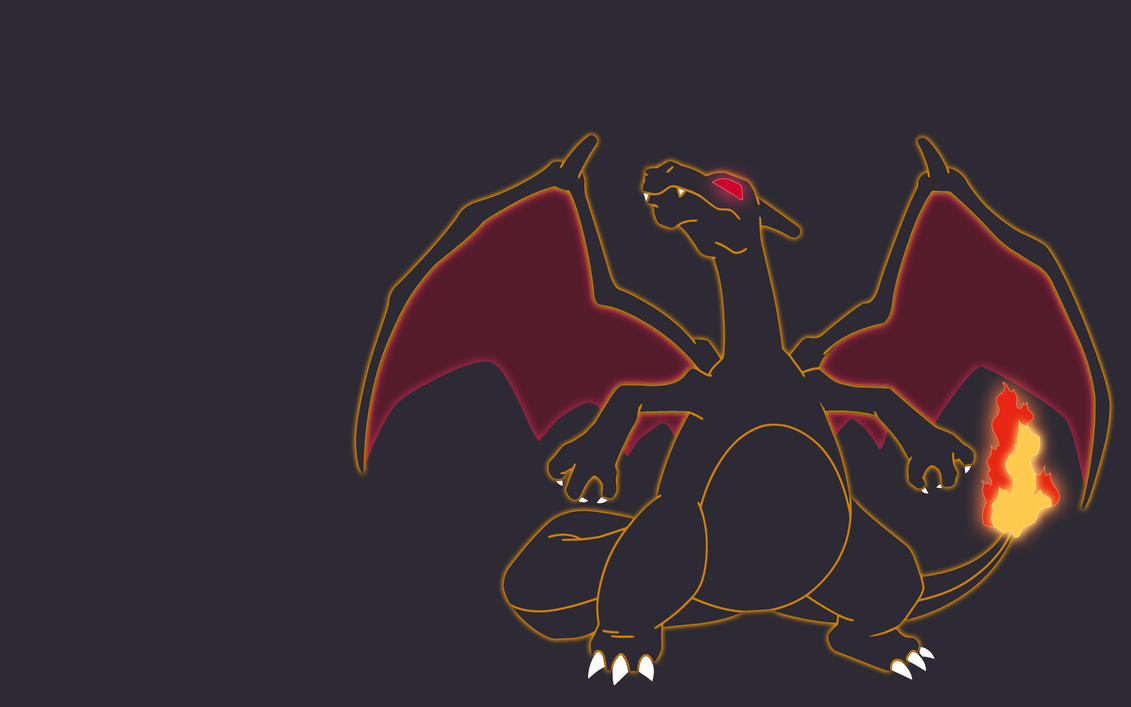 minimalist charizard wallpaper by favsco on deviantart