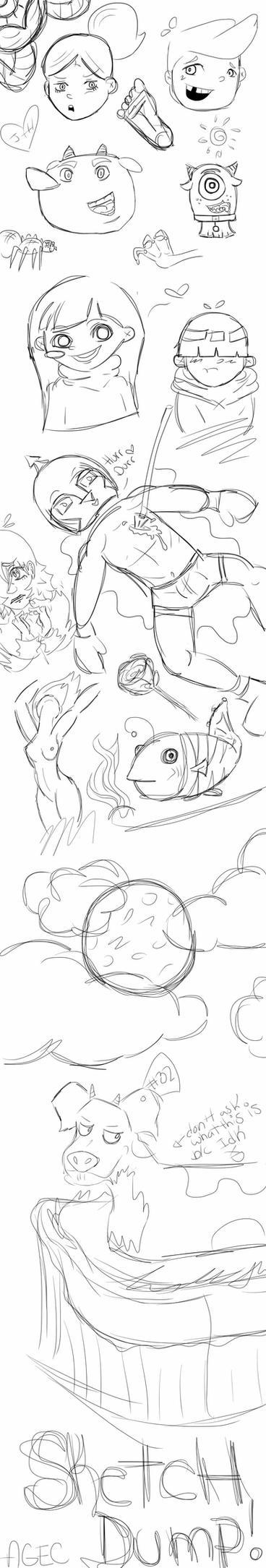 Sketch Dump #1 by agec