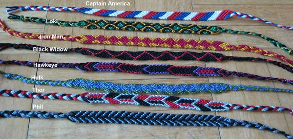 Avengers bracelets by Meg-Giry