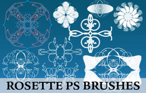 Hi-Res Rosette Brushes by fiftyfivepixels