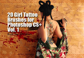 Girl Tattoo Brushes Vol.1 by fiftyfivepixels