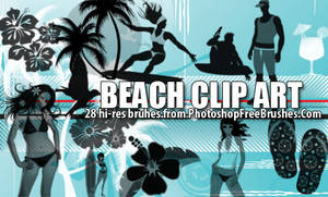 Beach Clip Art Brushes