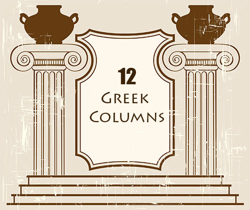 Greek Columns PS Brushes