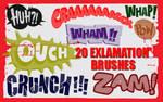 Exclamations-Photoshop Brushes