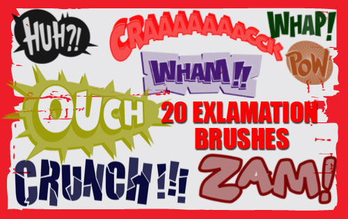 Exclamations-Photoshop Brushes by fiftyfivepixels