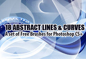 Abstract Curves Brushes by fiftyfivepixels