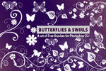 Butterflies and Flower Swirls
