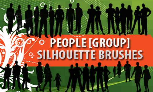Group of People Silhouettes by fiftyfivepixels