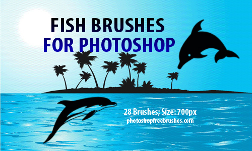 Fish Clip Art Brushes by fiftyfivepixels