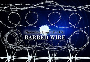 Barbed Wire - PS Brushes by fiftyfivepixels
