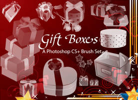 Gift Boxes - PS Brushes by fiftyfivepixels
