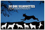 Dog Silhouettes - PS Brushes