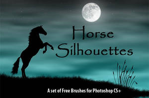 Horse Silhouettes - PS Brushes by fiftyfivepixels