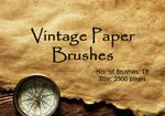 Vintage Paper Brushes