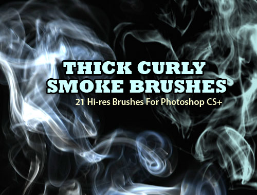 Thick, Curly Smoke Brushes