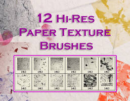 Paper Texture Brushes by fiftyfivepixels