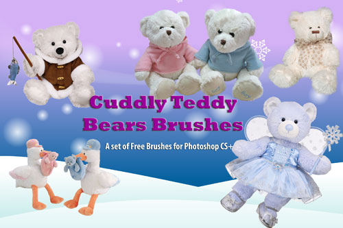 Teddy Bear Clip Art Brushes by fiftyfivepixels
