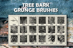 18 Tree Bark PS Brushes by fiftyfivepixels