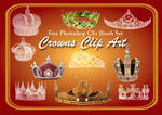 24 Crown Clip Art PS Brushes 2