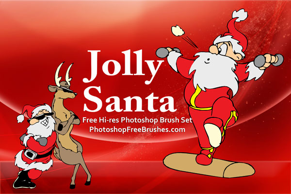 15 Santa Pictures PS Brushes by fiftyfivepixels
