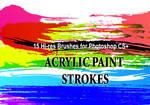 18 Acrylic Paint PS Brushes
