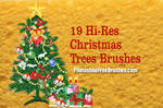 19 Christmas Tree PS Brushes