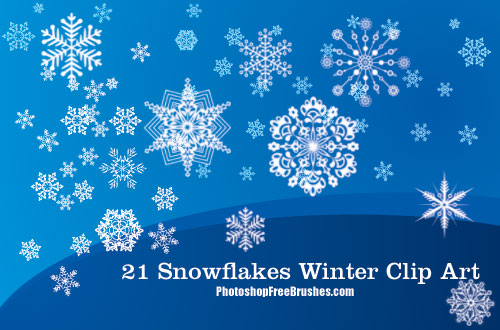 21 Winter Clip Art PS Brushes