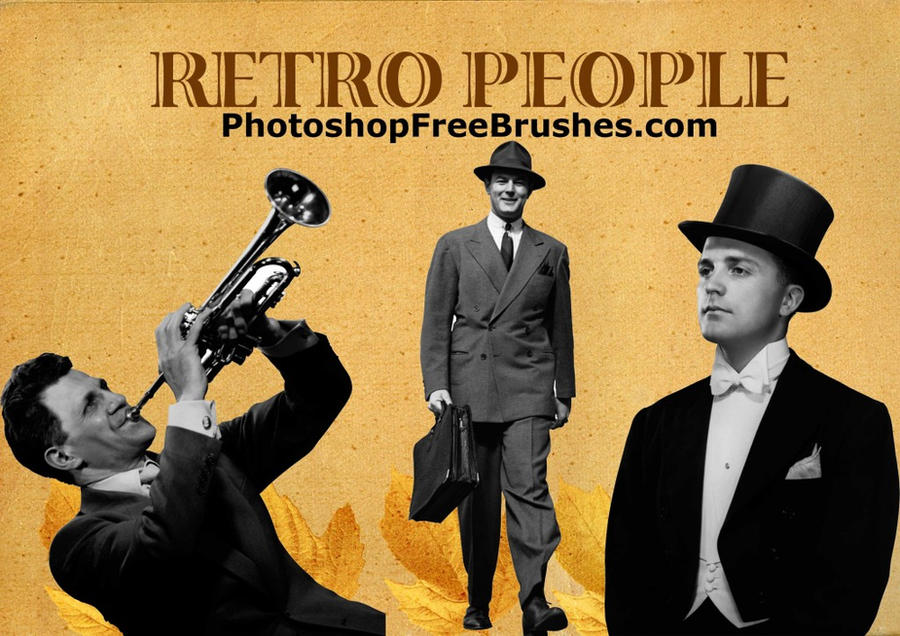 20 Retro Men PS Brushes by fiftyfivepixels