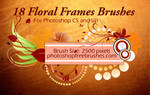 18 Floral Frame PS Brushes