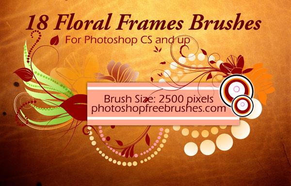 18 Floral Frame PS Brushes