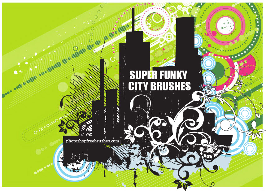 Funky City Skyline PS Brushes