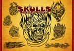 13 Flaming Skull Tattoos