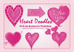18 Heart Doodles PS Brushes