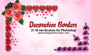 20 Decorative Borders PS Brush
