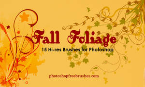 15 Fall Foliage PS Brushes by fiftyfivepixels