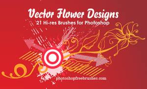 21 Vector Flower Designs Brush