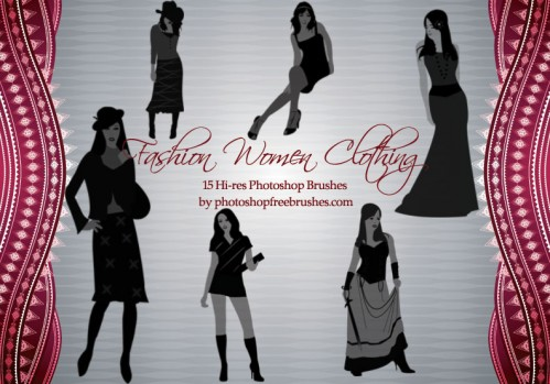 Fashion Women Clothing Brushes by fiftyfivepixels
