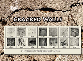 7 Hi-Res Cracked Wall Photosho by fiftyfivepixels