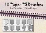 10 Paper Photoshop Brushes
