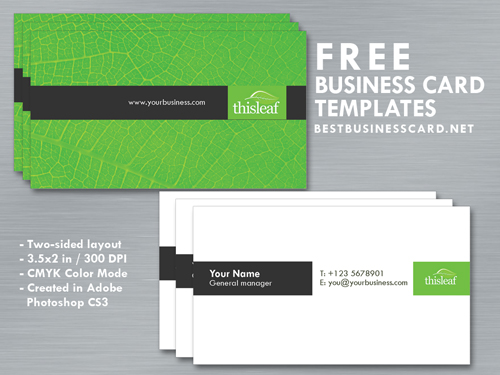 Simple business card template in green black theme by simple business card template in green black theme by fiftyfivepixels reheart Gallery