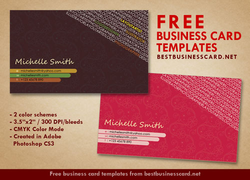 Artist Business Card Templates In Pink And Brown By - Artist business card template