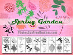 Spring Garden: Nature Photoshop Brushes