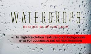 FREEBIES: 14 Hi-Res Water Drops Textures