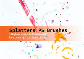 Paint Splatters Photoshop Brushes by fiftyfivepixels