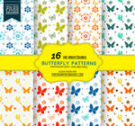16 Butterfly Patterns in Bright Colors