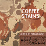 27 Coffee Stains: Free Grunge Photoshop Brushes