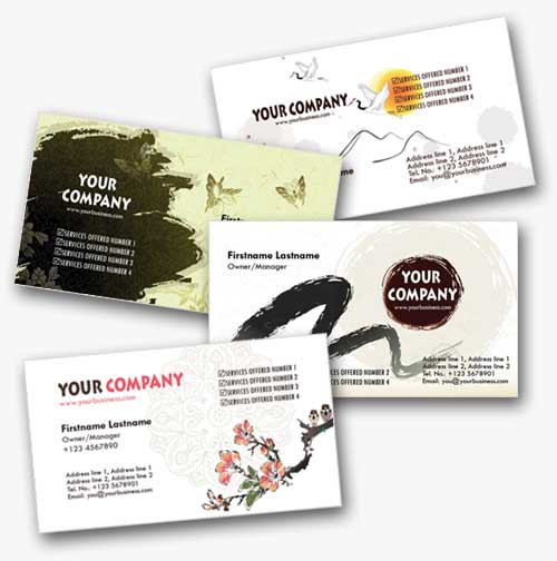 4 Asian-Inspired Personal Business Cards Templates by fiftyfivepixels