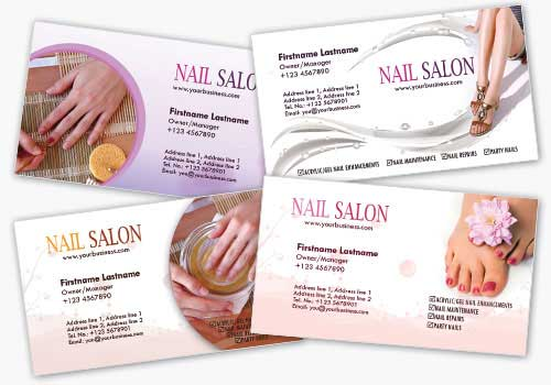 4 Nail Salon Business Card Templates by fiftyfivepixels
